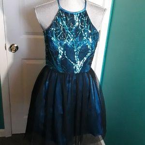 Blue jewel dress